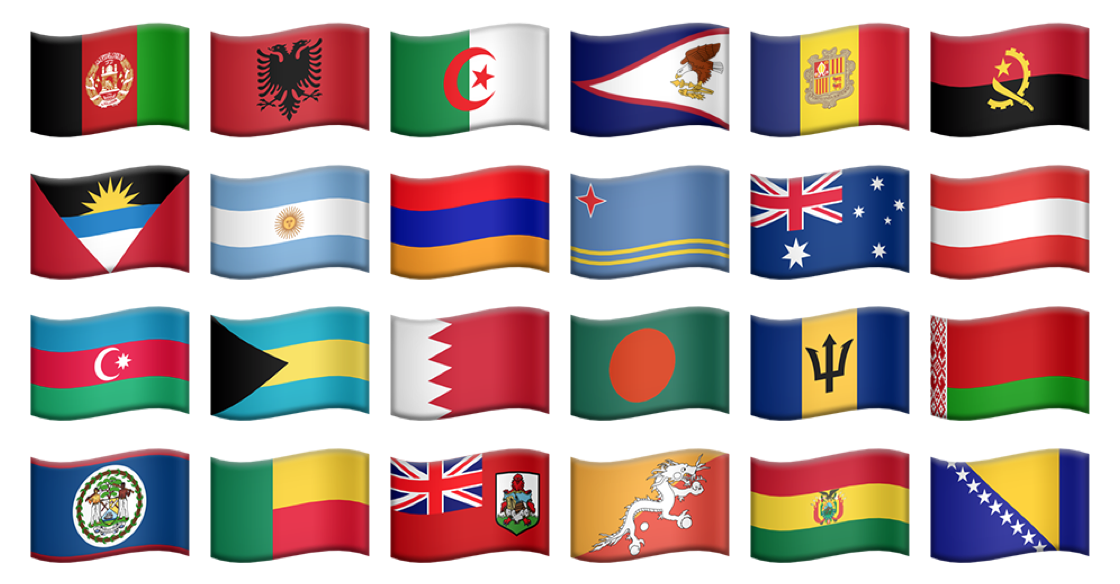 🇺🇸🇮🇹 Emoji Flags 🇯🇵🇰🇷